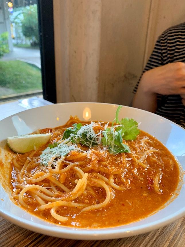 Chilli Crab Pasta | $13.90