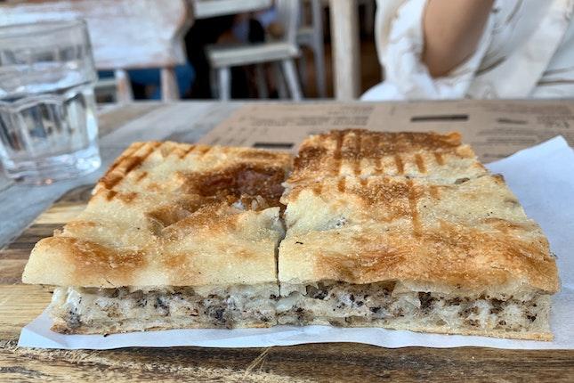 Traditional Truffle Roman Stuffed Schiacciata (S) | $10