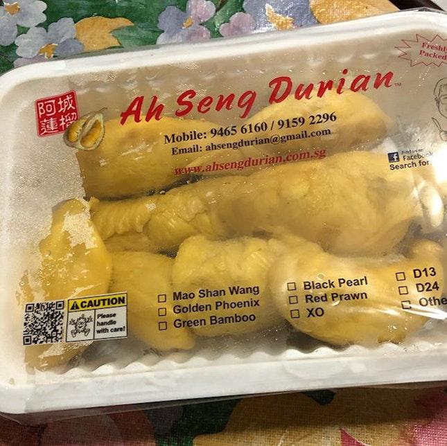 Mao Shan Wang ($40)  Best durians in Singapore.