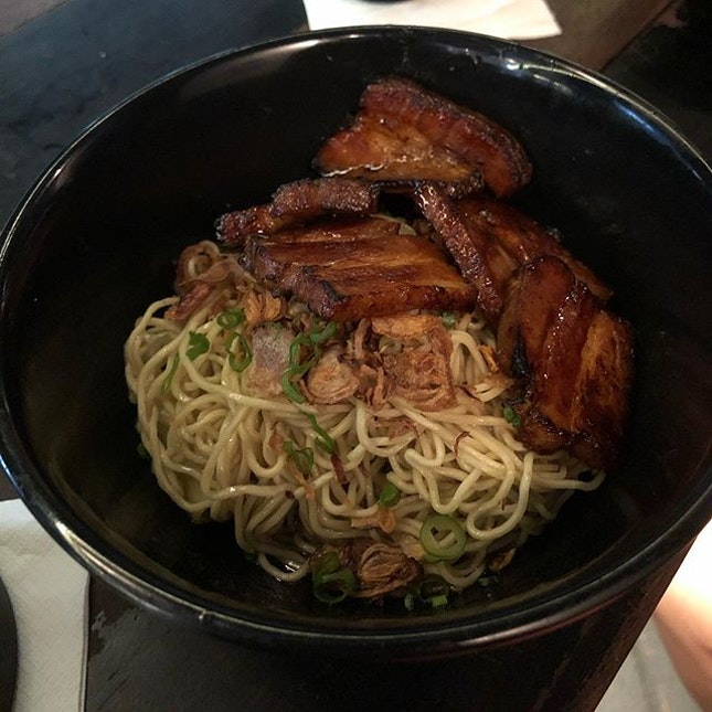 Classic Char Siu Noodles (7++) The char siew is definitely the star in this dish.