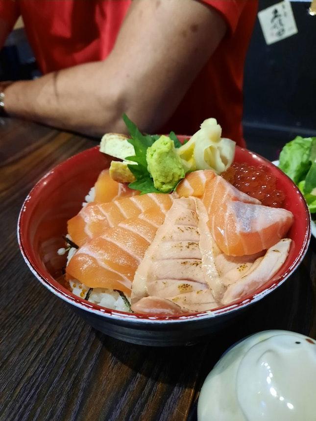 Salmon Zukushi Don ($19.80)