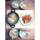 初二開年 with @kiwingwinky  有魚有肉有菜 😎😋