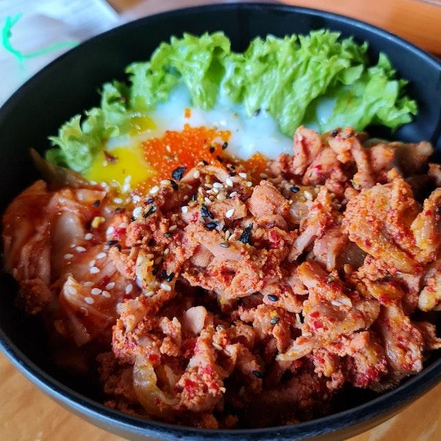Spicy Kimchi Chicken Don