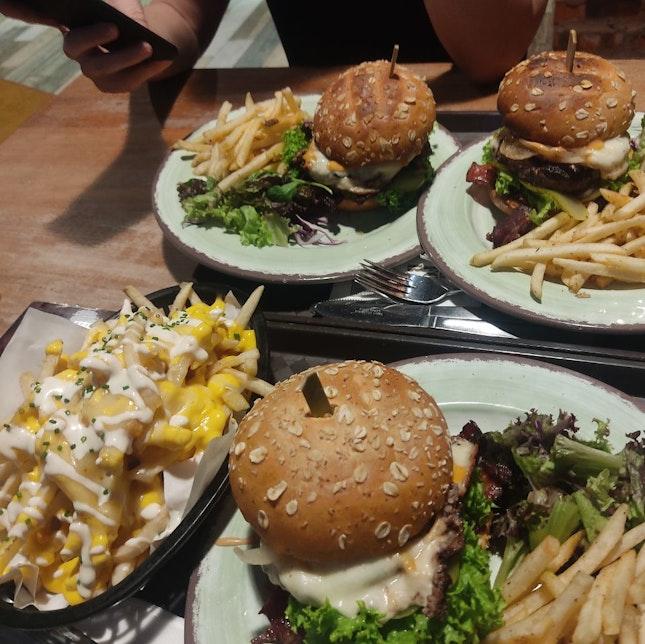 Food Barn? More Like Food Barney Because The Burger Was Huge