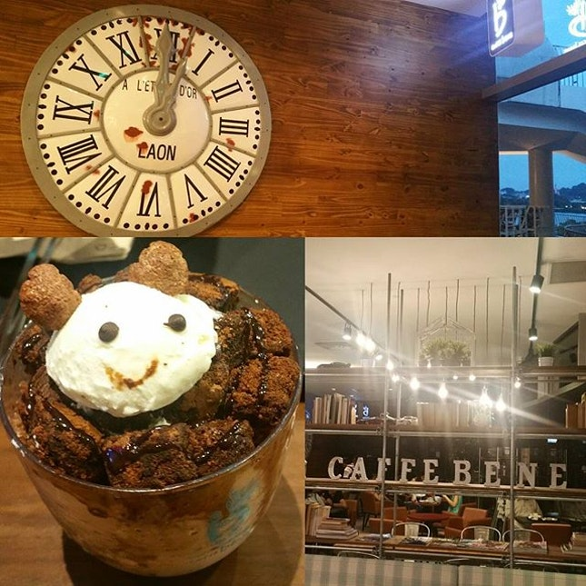 While looking back at ytd bingsu; reminded of another atas one I tried a few weeks back at #caffeebene ..