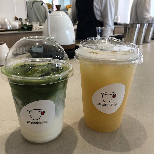 Matcha Latte & Pear Oolong