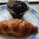 Croissant And Muffin