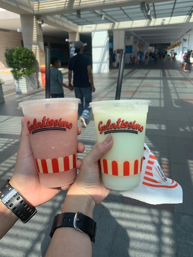Lime Frappe and Strawberry Frappe
