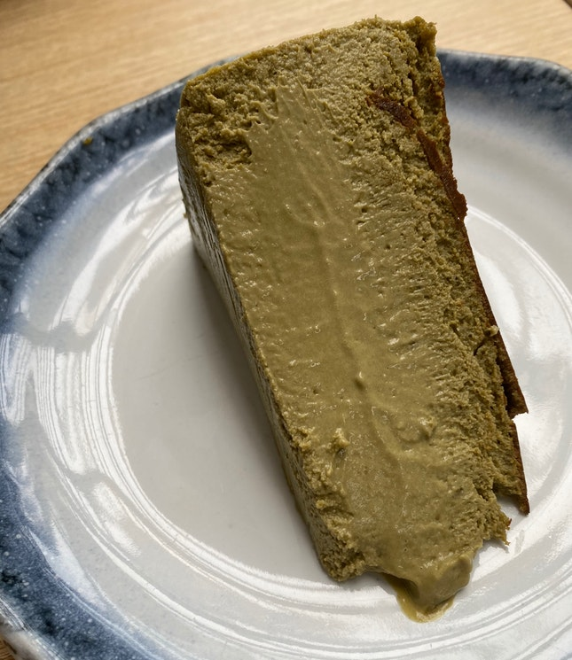 Hojicha Burnt Cheesecake