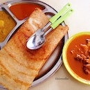 Thosai S$1.20 + mutton curry S$3 for lunch today!