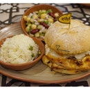 1 of the 20 new items this September is [Nandoca's Choice Burger S$16.90 on its own / S$18.90 with 1 side / S$19.90 with 2 sides] - comes with PERI-PERI chicken breast flame grilled then topped with coleslaw.