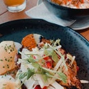 get mentaiko mac & cheese and sriracha chicken eggs benedict