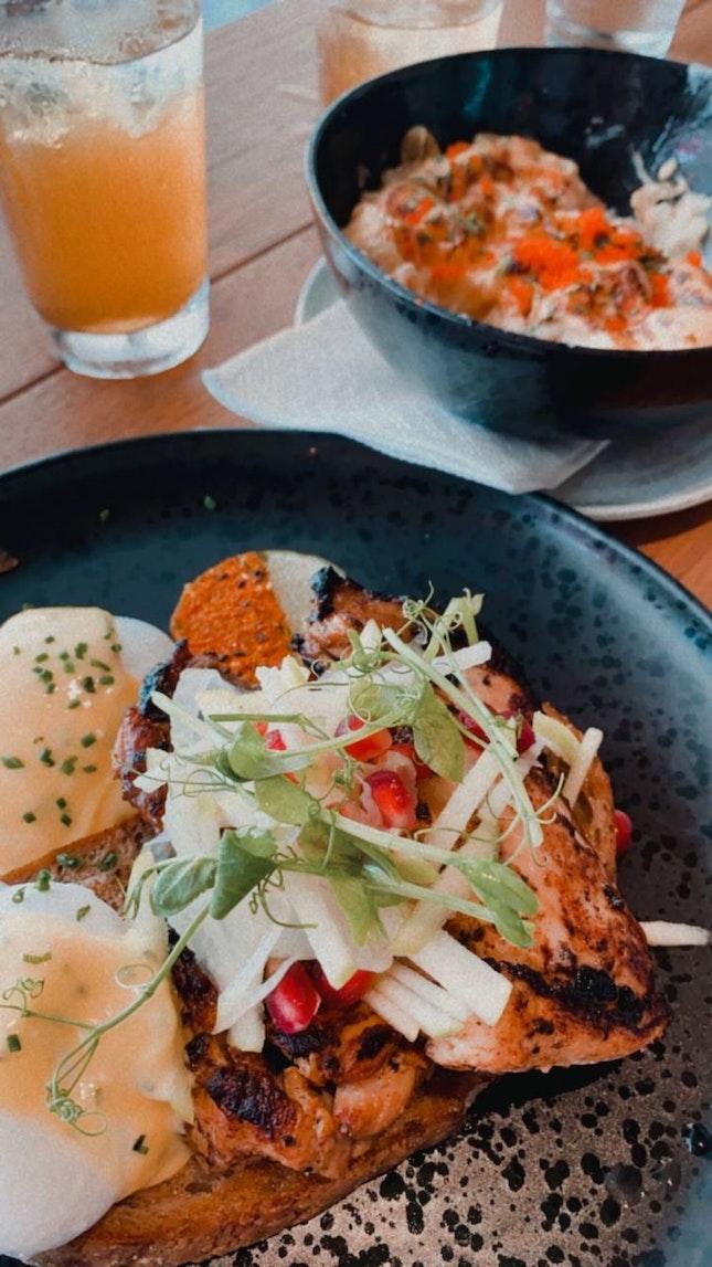 get mentaiko mac & cheese and sriracha chicken eggs benedict