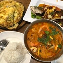Deep Fried Fish, Tom Yum Soup, Oyster Omelette
