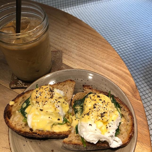 Eggs Toast & Ice Latte