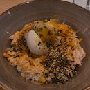 aburi salmon mentaiko grab bowl + sparkling citrus ($11.50)
