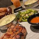 XXL Onion Rings & Chicken Chop