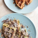 Brown Butter Waffles & Pandan Waffles