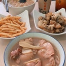 sesame chicken noodle ($7.90) & herbal chicken noodle ($7.90)