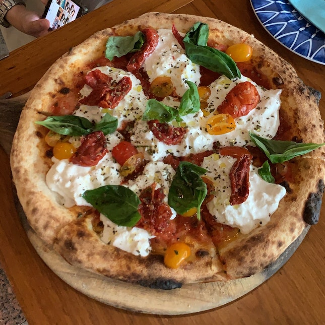 Woodfire Burrata Pizza