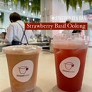 Strawberry Basil Oolong ($6.60) Kukicha Tea Latte ($6.30)