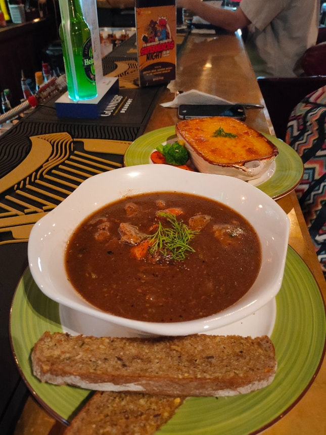 Guinness Beef Stew And Shepherd's Pie