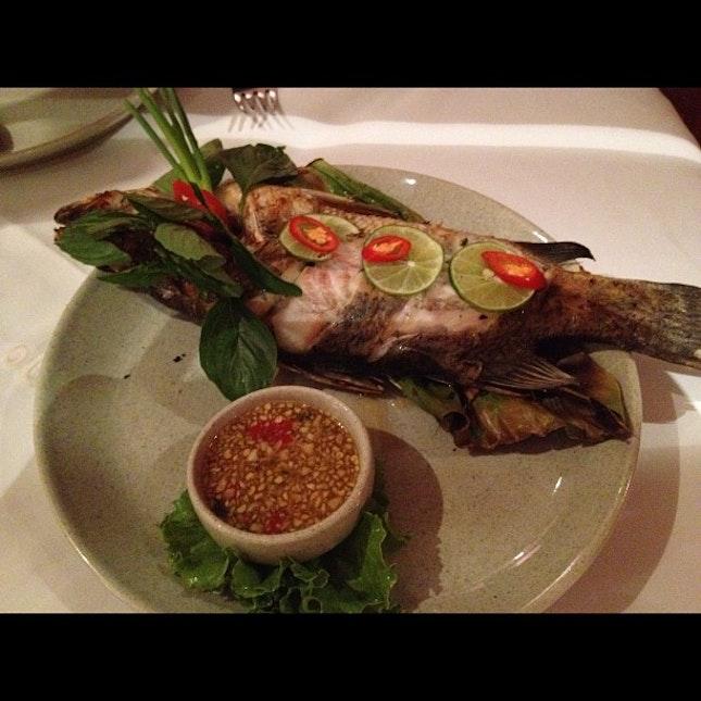 Grilled Sea Bass #food #foodporn #thailand #restaurant