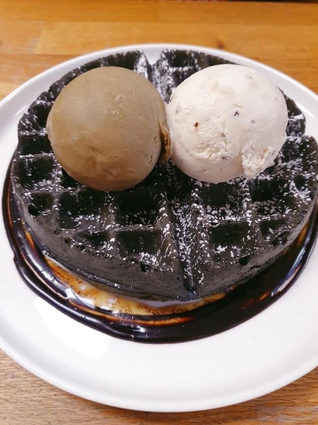 Really Good Ice Cream Waffles!