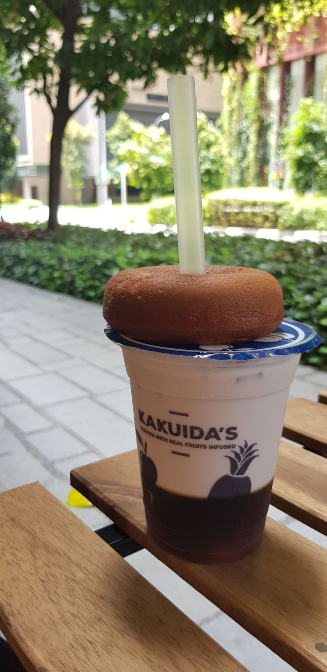 Sweet Potato Donut & Pina Colada Milk Tea