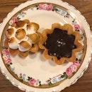 Sea Salt Chocolate Tart/ Passionfruit Meringue ($3.2)