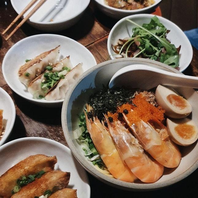 XO Prawn noodle & Dumpling Platter