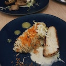 Grilled Miso Cod Capellini And Char-grilled Pork Belly