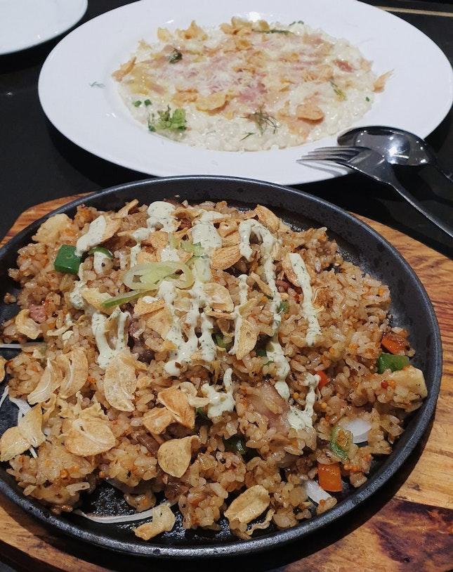 Garlic Sizzling Rice And Prosciutto Risotto
