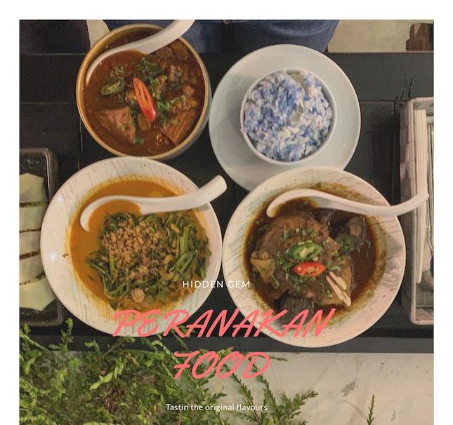 Authentic Peranakan food