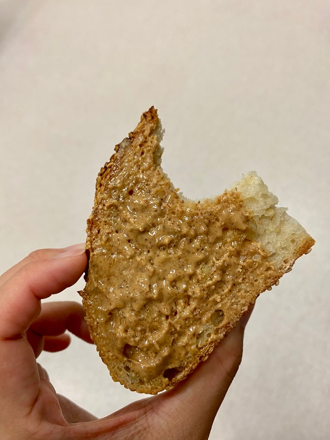 Sourdough Toast With Almond Butter