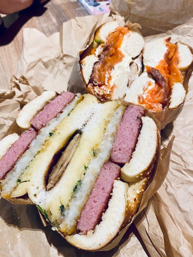 🥯 Spam + Hashbrown | Smoked Salmon + Cream Cheese