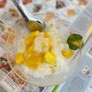 Mango Dessert With Aiyu Jelly & Nata De Coco