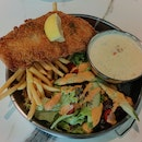 Fish and Chip with Alscampi Sauce
