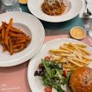 Truffle Beef Burger / Sweet Potato Fries / Spicy Crabmeat