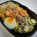 Quinoa Bowl - The Japanese Bowl w Aburi Salmon .