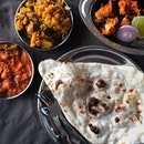 A rare North Indian meal for lunch.