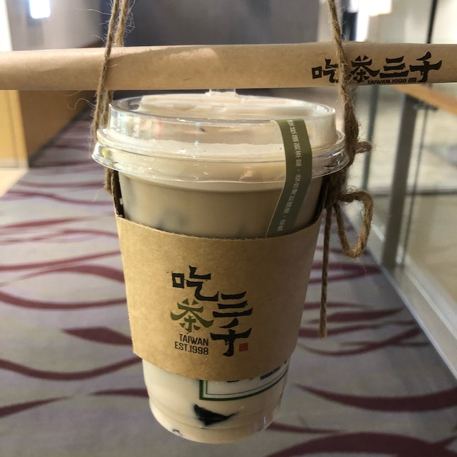 Dong Ding Oolong Fresh Milk w Grass Jelly $5.20