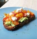 Avocado Toast With Tomatoes And Feta