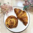 Custard Croissant And Raisin Roll