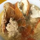 Crayfish seafood soup.