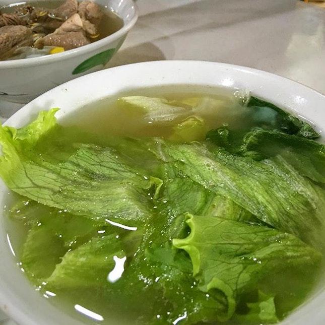 Vegetable BKT soup.