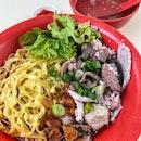 黄大福 minced pork noodle.