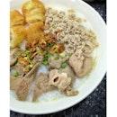 The traditional Singapore styled pork porridge.