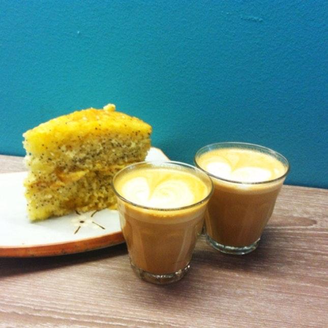 Lemon Poppyseed Cake & Piccolo