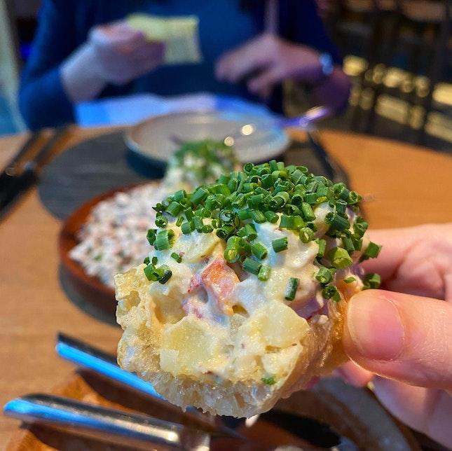 Boston Lobster & Iberico Chorizo on Crispy Pork Skin